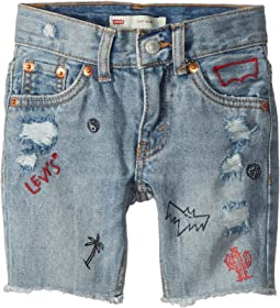 Levi's® Kids - 511 Slim Fit Destroyed Denim Cut Off Shorts (Toddler)