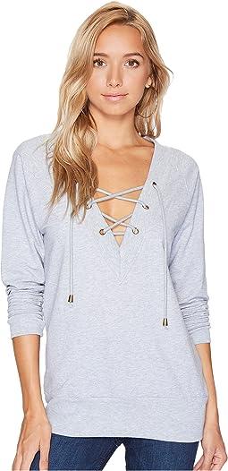 Bishop + Young - Teri Lace-Up Sweatshirt
