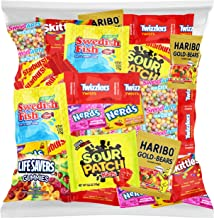 Halloween Bulk Assorted Fruit Candy - Starburst, Skittles, Swedish Fish, SweeTarts, Nerds, Sour Patch Kids, Haribo Gold-Be...