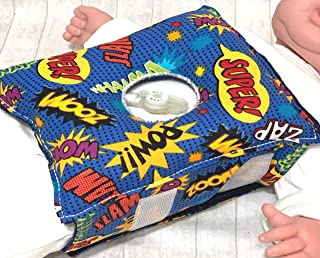 Superhero G-tube Pillow Belt for Infant Tummy Time