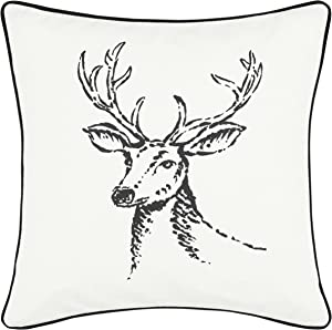 Eddie Bauer Winter Morning Stag Throw Pillow, 20x20, Black