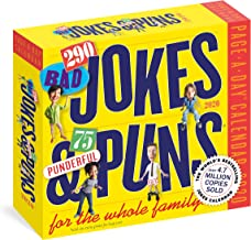 290 Bad Jokes & 75 Punderful Puns for the Whole Family Page-A-Day Calendar 2020