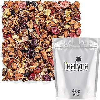 Tealyra - Tropical Harvest - Dragon Fruit - Sea Buckthorn - Goji - Pineapple - Cranberry - Fruity Herbal Loose Leaf Tea - Caffeine Free - Hot or Iced - 112g (4-ounce)