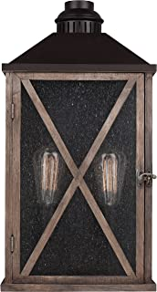 Feiss OL17004DWO/ORB Lumiere Outdoor Lighting Wall Pocket Sconce, Bronze, 2-Light (11