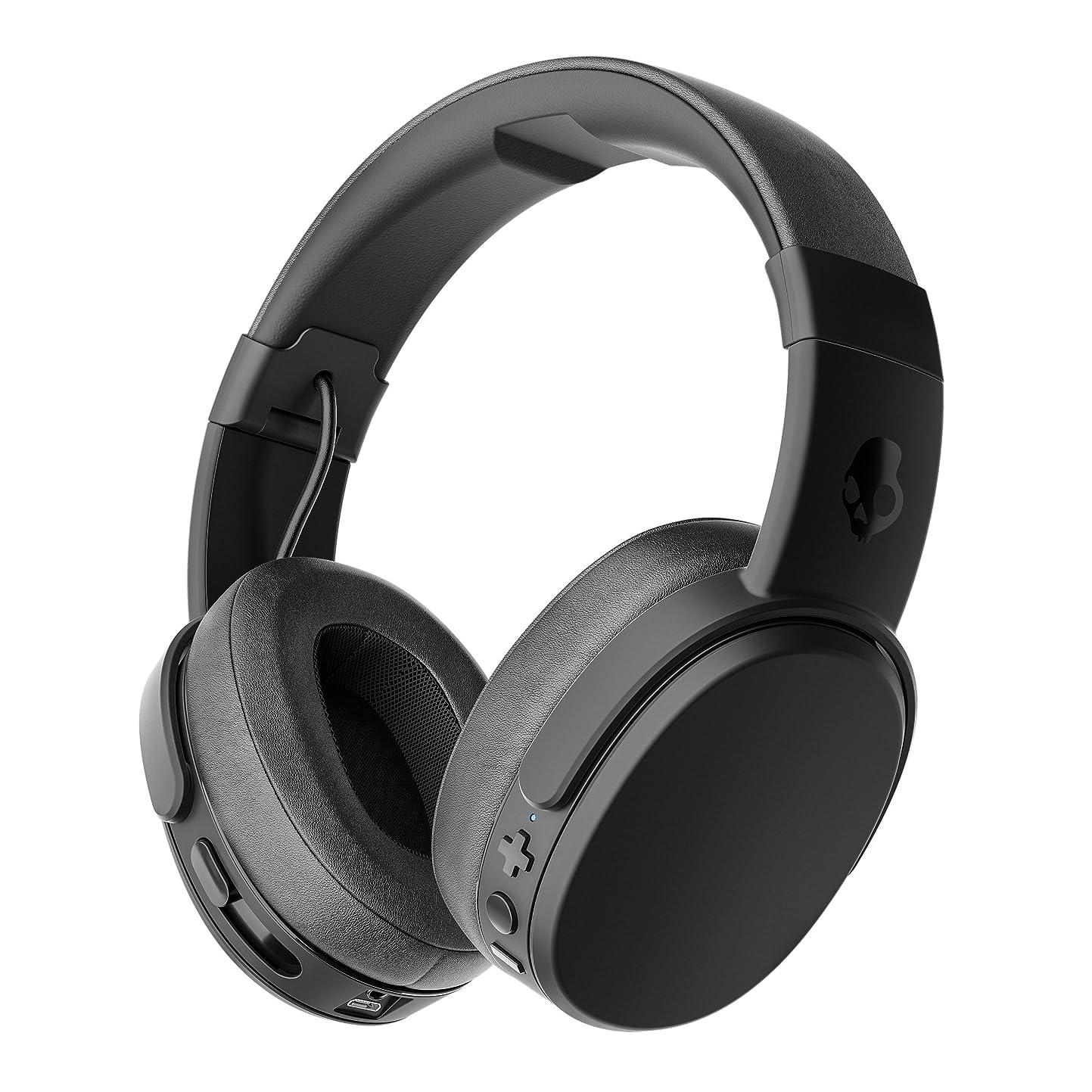 わかりやすいカルシウムシリアルSkullcandy Crusher Wireless ワイヤレスヘッドホン Bluetooth対応 BLACK A6CRW-K591(S6CRW-K591)【国内正規品】 オリジナルステッカー付