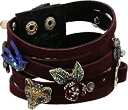 Betsey Johnson - Burgundy and Gold Multi-Row Bracelet
