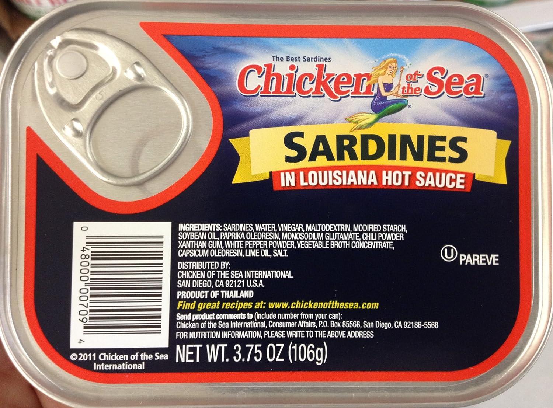 Chicken of the Sea Sardines in Louisiana Hot Sauce 3.75oz (18 Ti
