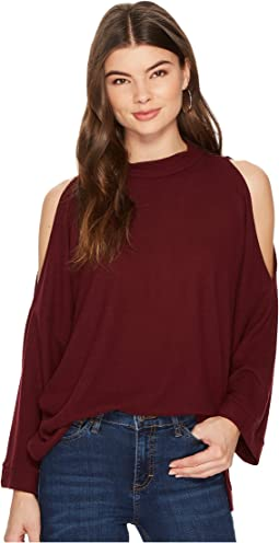 1.STATE - 3/4 Sleeve Cold Shoulder Top