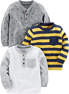 Toddler Boys' 3-Pack Long Sleeve Shirt