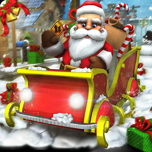 Virtual Santa Clause Simulator 3D: Entrega de regalos Frenzy Adventure Mission Game Gratis para niños 2018