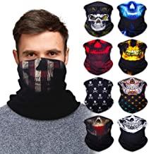 Best SoJourner 9PCS Seamless Bandanas Face Mask Headband Scarf Headwrap Neckwarmer & More – 12-in-1 Multifunctional for Music Festivals, Raves, Riding, Outdoors(Many Designs) Review