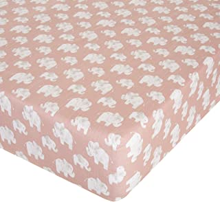 Glenna Jean Elephant Herd - Blush Crib Sheet Fitted 28x52x8 Nursery Standard