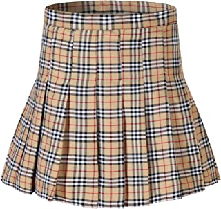 2e3689ca47 Beautifulfashionlife Girl`s Short Pleated School Dresses for Teen Girls  Tennis Scooters Skirts