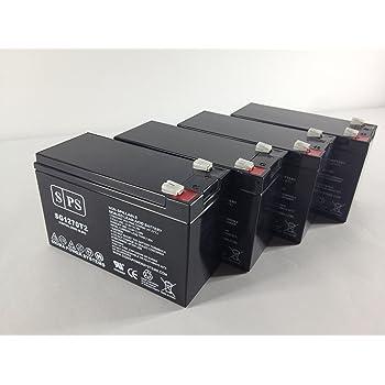 4 UPSBatteryCenter Battery Set Replacement for PCM Powercom King Pro KIN-2200APRM 12V 7Ah F2