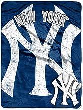 "Officially Licensed MLB Triple Play Mirco Raschel Throw Blanket, Soft & Cozy, Washable, 46"" x 60"""