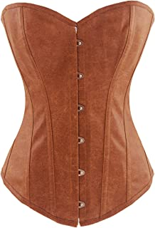 Alivila.Y Fashion Corset Women's Faux Leather Steel Boned Corset