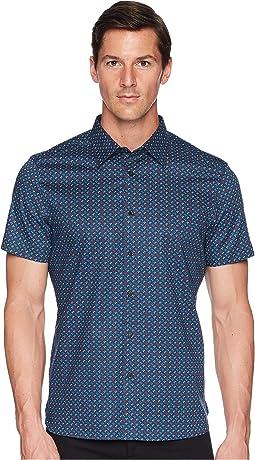 Perry Ellis - Short Sleeve Stretch Walkmen Shirt