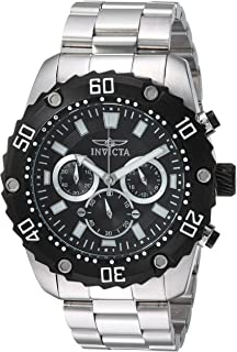 Invicta 22516 Watch Men's Pro Diver Quartz Stainless Steel Casual, Silver-Toned