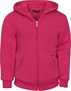 Real Love Girl's Fleece Full-Zip Hooded Sweatshirt with Sherpa Lining