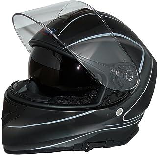 Preisvergleich für Protectwear Motorradhelm Integralhelm V127-GR mit Sonnenblende matt-schwarz - L preisvergleich