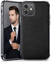 LOHASIC iPhone 12/iPhone 12 Pro Case, PU Leather High-end Luxury Phone Cover Drop Proof Hybrid Bumper Anti Scratch Soft Gr...
