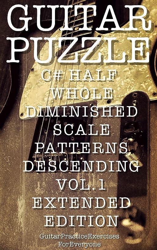 通信する調整可能国旗GUITAR PUZZLE C# HALF WHOLE DIMINISHED SCALE PATTERNS DESCENDING VOL.1 EXTENDED EDITION (English Edition)