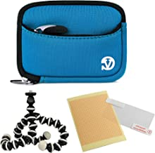 VanGoddy Mini Glove Sleeve Pouch Case for Canon PowerShot S120, S110, S100, S95, S90 Digital Cameras (Sky Blue) and Screen Protector and Mini Tripod Stand