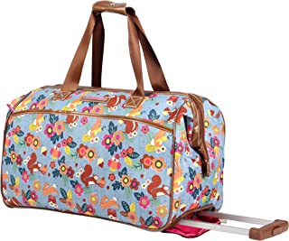 Lily Bloom Wheeled Duffel Bag (14in, Trees Company)
