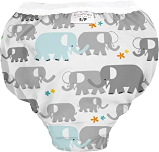Kushies Baby Waterproof Training Pant (38-44 Pounds), White Elephants, X-Large