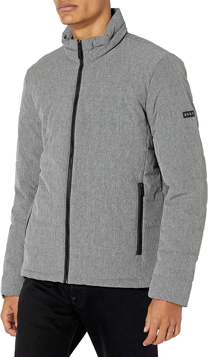 DKNY Men's Jon Quilted sold out Puffer Stand Collar depot Jacket