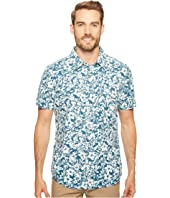 Agave Denim - Isla Vista Bloom Linen Short Sleeve Button Up