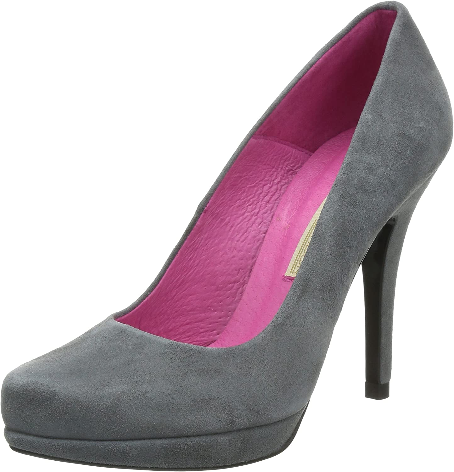 Buffalo London 9669-177 BL SUEDE Damen Plateau Pumps    e8f87a