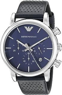 Armani Mens Quartz Watch, Analog Display and Leather Strap AR1736