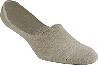 Florsheim Men's Hidden Liner Footie Sock (3 Pairs), Mens, Socks, 11535-279, Oatmeal Heather, Men's 8-13