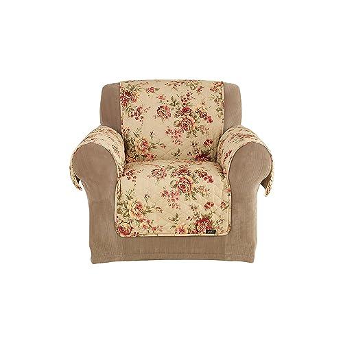Sure Fit Lexington Floral Pet Throw Chair   Flannel Gray (SF39900)