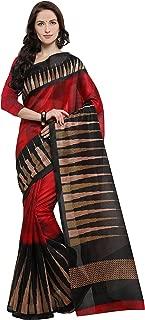 Rajnandini Women's Jute Silk Printed Saree(JOPLNB11008_Red_Free Size)