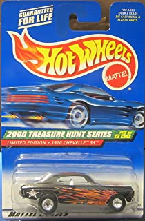 Hot Wheels 2000 Treasure Hunt Series 1970 Chevelle SS (Real Riders Rubber Wheels) Limited Edition 060 1:64 Scale Die-cast ...