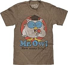Tee Luv Mr Owl How Many Licks T-Shirt - Vintage Tootsie Pop Graphic Tee Shirt