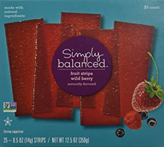 Simply Balanced Wild Berry Fruit Strips (25 Count)