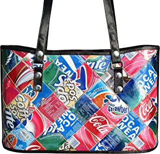 Handbag made from upcycled soda can - FREE SHIPPING - upcycled vegan recycled handmade unique bag cement sack organic gift gifts earth lover lovers upcycling recycling upcycle eco friendly style