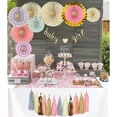 Pink And Baby Shower Decorations Amazon Com