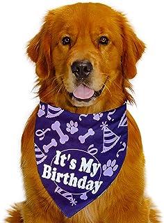 باندانا للاحتفال بعيد ميلاد الكلاب من هابي تيلز بلون ارجواني رويال