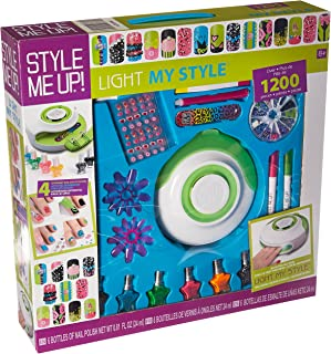 Style Me Up - All in One Pack for Nail Art - Nail Polishes, Coats, Markers, Nail Dryer and Decorations - SMU-1768