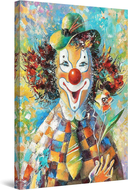 Startonight Canvas Wall Art Abstract 限定品 - The Party Clown at 超定番 Orang