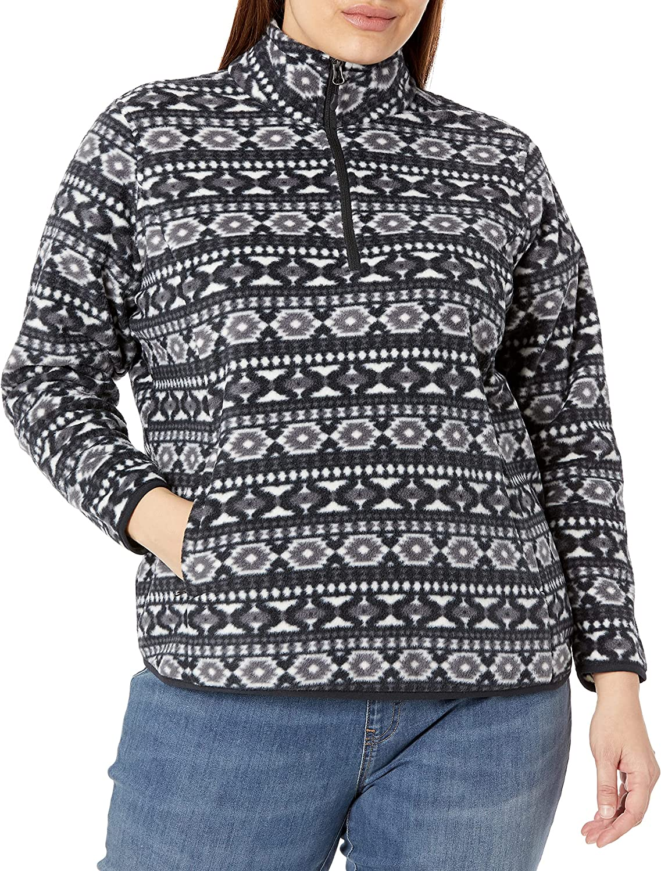 Amazon Essentials Women's Plus Size Long-sleeve Quarter-zip Polar Fleece Jacket