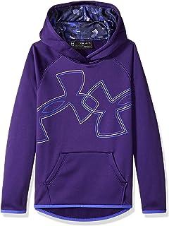 purchase cheap 83142 853ec Under Armour Girls Armour Fleece Dual Logo Hoodie