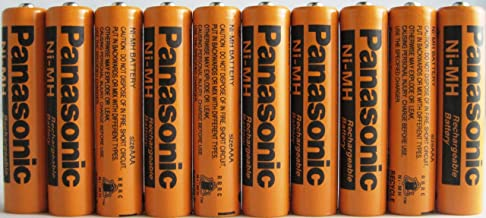 Panasonic HHR-75AAA/B-10 Ni-MH Rechargeable Battery for Cordless Phones, 700 mAh (Pack of 10) photo