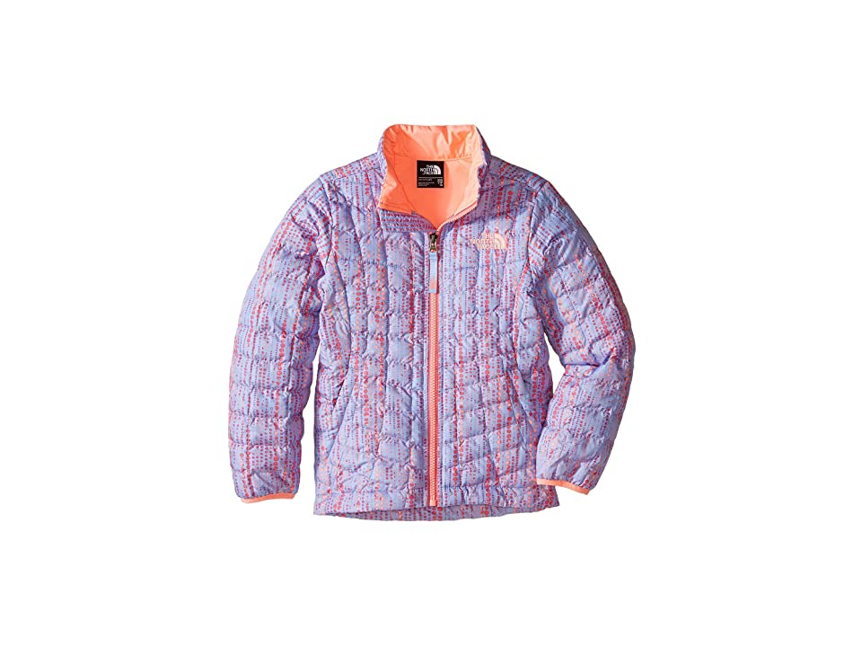 The North Face Kids Thermoball Full Zip Jacket (Little Kids/Big Kids) (Collar Blue Raindrop Print (Prior Season)) Girl