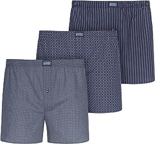 3-Pack Bicicleta Impresión Tejida Pantalones Cortos Bóxer para Hombre, Gris/Limón/Azul