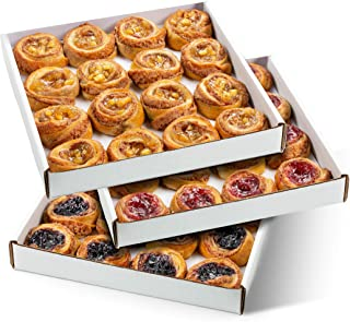 Fruit Danishes | Mini Cinnamon Buns Topped with Apple, Cherry or Blueberry | Delectable Bakery Dessert | Great for Holiday...
